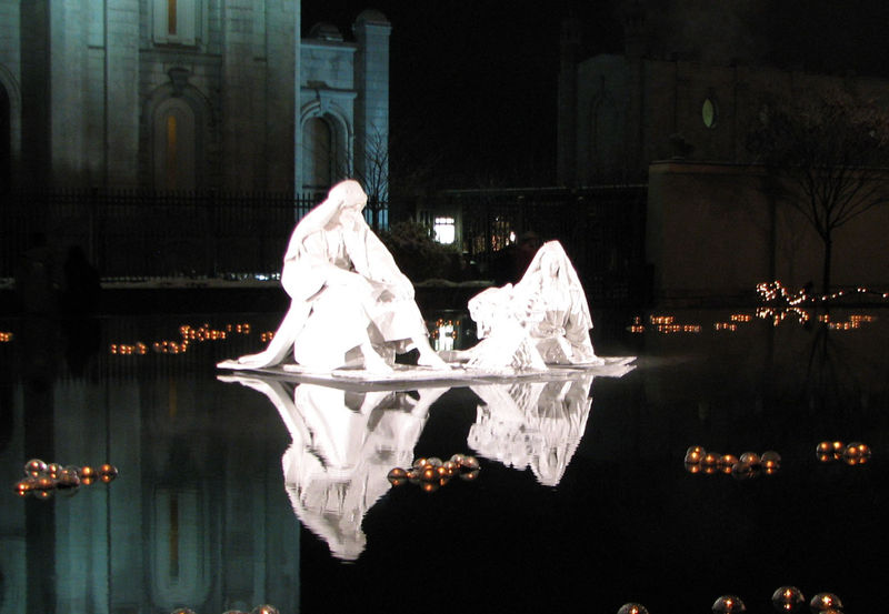 Nativity in the Reflecting Pool