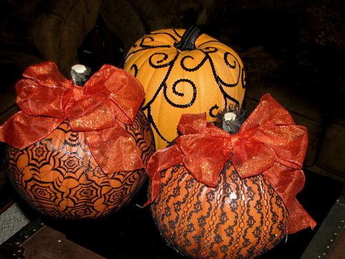 Pumpkins with bling