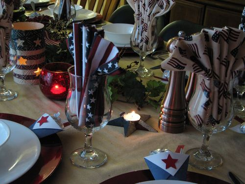Flag tablescape