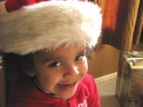 Zaylee santa hat